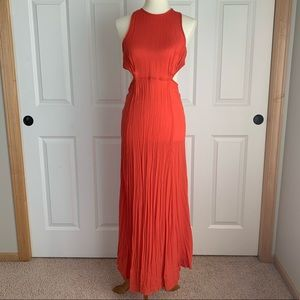 ASOS Red Side Cut Out Open Back Maxi Dress